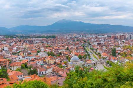 Aerial view of City of Prizren in Kosovo Standard-Bild