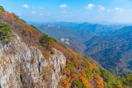 Peaks of Naejangsan national park in Republic of Korea