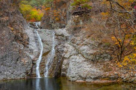 Jesam waterfall at Juwangsan national park in Republic of Korea