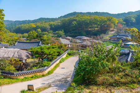 Typical farm houses at yangdong folk village in Republic fo Korea
