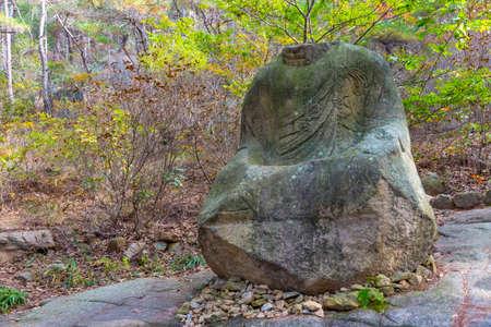 Buddha statue at Namsan national park in Republic of Korea