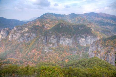 Peaks of Juwangsan national park in Republic of Korea