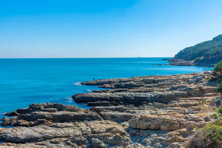 Ragged coast of Igidae at Busan, Republic of Korea