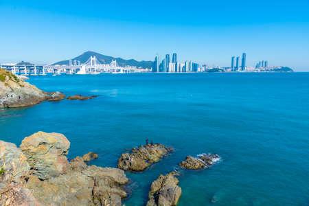 Panorama of Busan viewed from Igidae, Republic of Korea