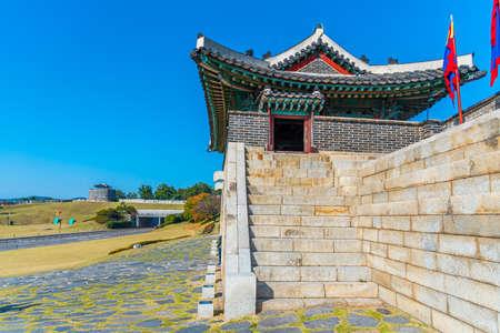 Changryongmun gate at Hwaseong fortress at Suwon, Republic of Korea