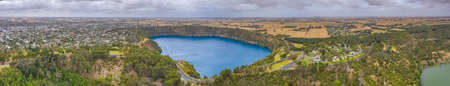 Blue lake at Mount Gambier in Australia
