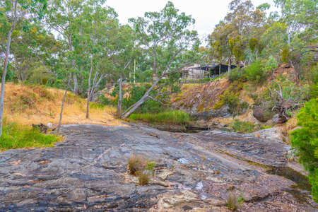 Rock formations deformed by glacier at Inman valley in Australia