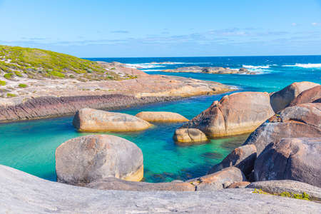 Elephant rock during a sunny day in Australia