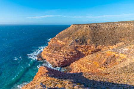 Grandstand rock gorge at Kalbarri national park in Australia