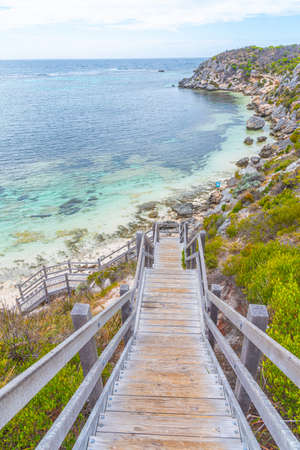Porpoise bay viewed from parker point at Rottnest island in Australia