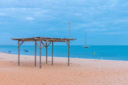 Beach at Monkey Mia resort in Australia Stock Photo