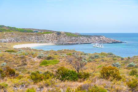Rugged coastline of Rottnest island in Australia