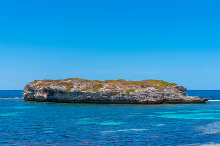 Green island at Rottnest island in Australia