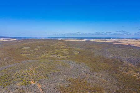Aerial view of bush in Western australia