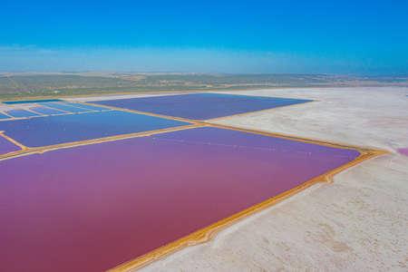 Pink lake at port gregory in Australia Archivio Fotografico