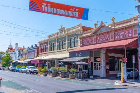 ADELAIDE, AUSTRALIA, JANUARY 7, 2020: View of a street in center of Adelaide, Australia