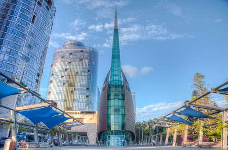 PERTH, AUSTRALIA, JANUARY 17, 2020: The bell tower in Perth, Australia Stock fotó