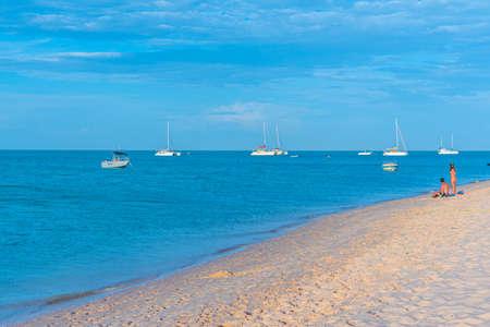 MONKEY MIA, AUSTRALIA, JANUARY 12, 2020: Beach at Monkey Mia resort in Australia Stock Photo