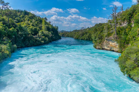 Huka falls near lake Taupo, New Zealand