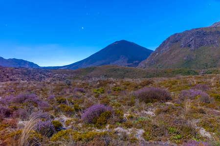 Mount Ngauruhoe at Tongariro national park in New Zealand Stock Photo