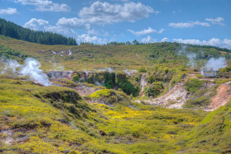 Craters of the moon - a geothermal landscape at New Zealand