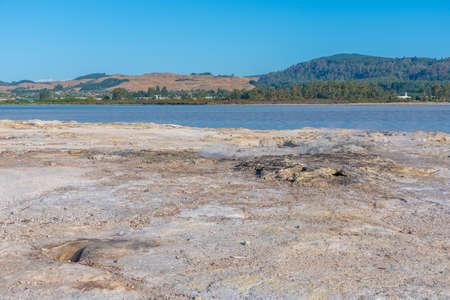 Sulphur point at Rotorua, New Zealand