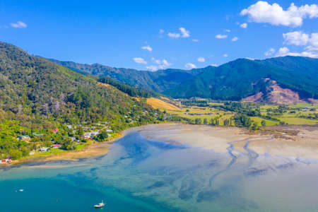 Okiwa bay at Queen Charlotte sound at South Island of New Zeland