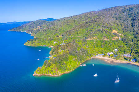 Governors bay at Queen Charlotte sound at South Island of New Zeland