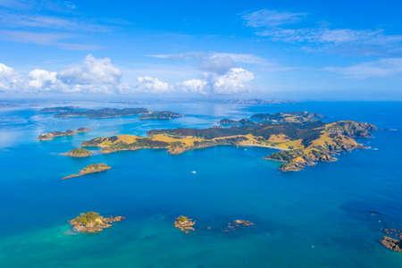 Aerial view of Urupukapuka island in New Zealand