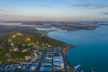 Aerial view of Paihia in New Zealand