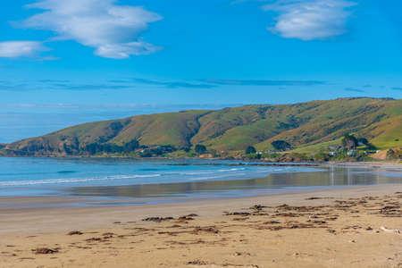 Beach at Kaka point in New zealand