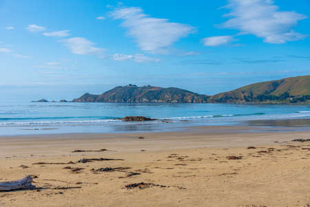 Beach at Kaka point in New zealand Stock fotó