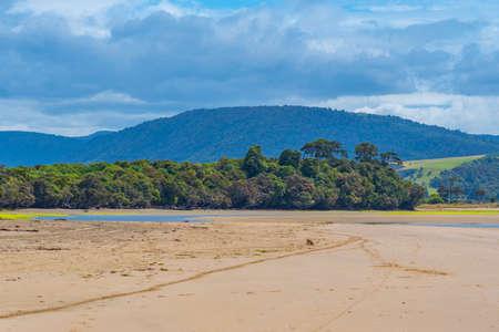 Tahakopa bay at Caitlins region of New Zealand