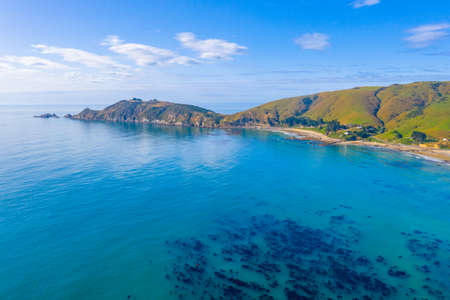 Aerial view of Nugget point in New Zealand Stock fotó