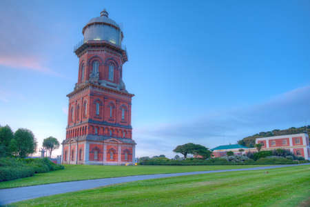 Sunset view of Invercargill Water Tower in New Zealand