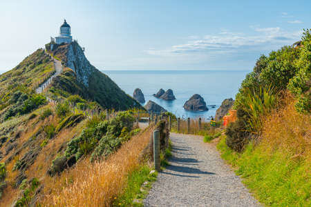 Lighthouse at Nugget point in New Zealand
