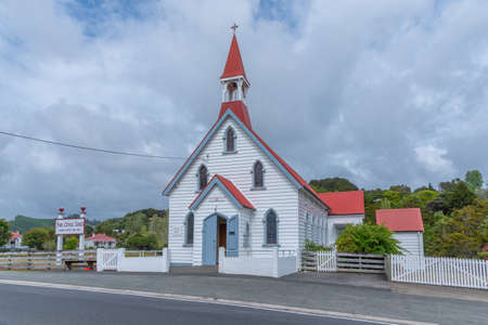 Church Of Saints Peter And Paul at Puhoi, New Zealand Stock Photo