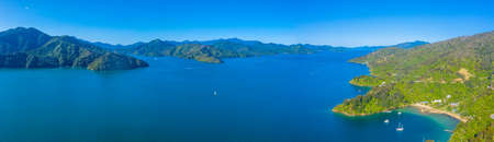 Grove arm of Queen Charlotte sound at South Island of New Zeland Stok Fotoğraf