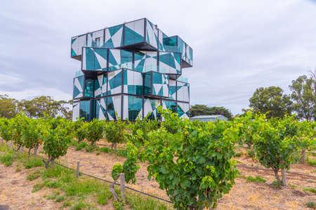 MCLAREN VALE, AUSTRALIA, JANUARY 5, 2020: d'Arenberg Cube situated at a vineyard at Mclaren Vale, Australia