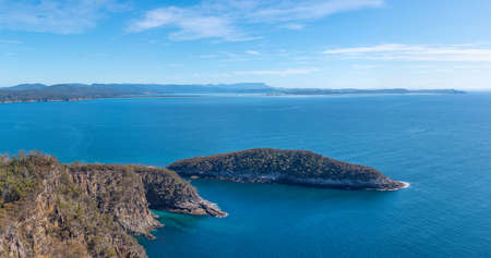 Penguin island at Bruny island in Tasmania, Australia