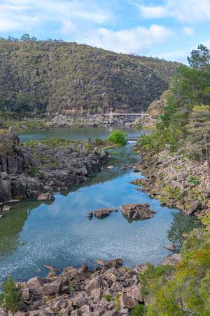 First Basin at Cataract Gorge Reserve at Launceston in Tasmania, Australia Archivio Fotografico