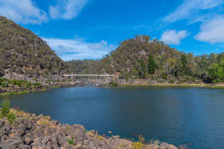 First Basin at Cataract Gorge Reserve at Launceston in Tasmania, Australia