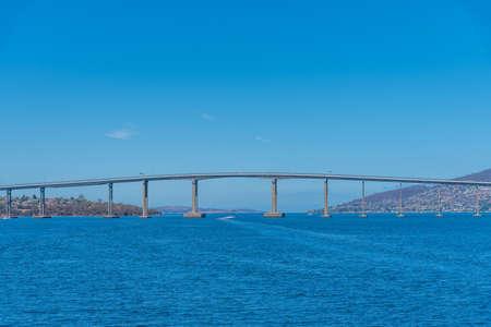Tasman bridge in Hobart, Australia Zdjęcie Seryjne