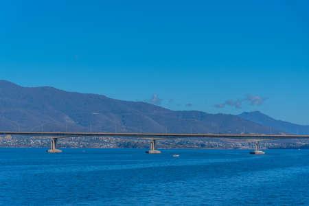 Bowen bridge in Hobart, Australia Zdjęcie Seryjne