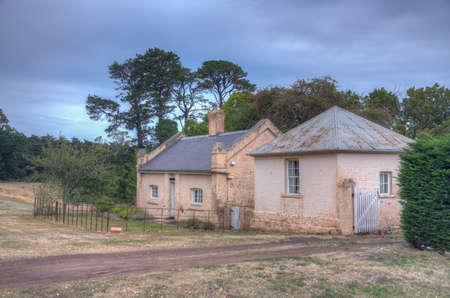 Building at Woolmers estate – world heritage convict site in Tasmania, Australia