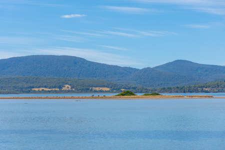 Cloudy bay lagoon at Bruny island in Tasmania, Australia