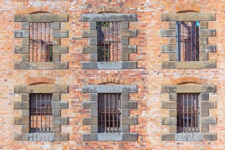 Window of the Penitentiary at Port Arthur Historic site in Tasmania, Australia 版權商用圖片