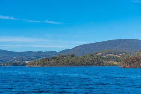 Coastline of Bruny island in Tasmania, Australia