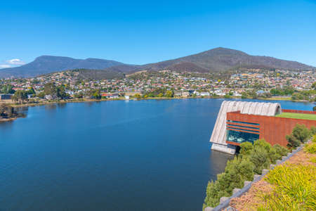 MONA – museum of Old and New Art situated at Berriedale bay of river Derwent in Hobart, Australia