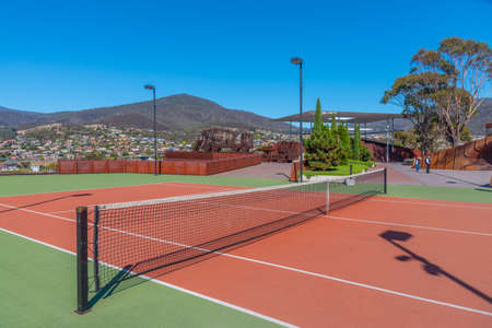 Tennis court at MONA – Museum of old an new Art in Hobart, Australia Editorial